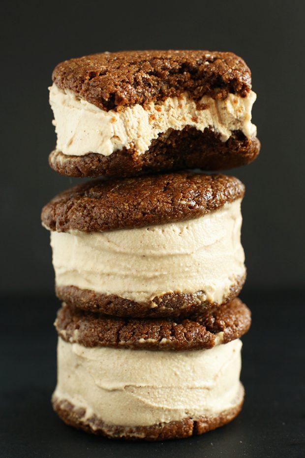 ginger chai ice cream sandwiches