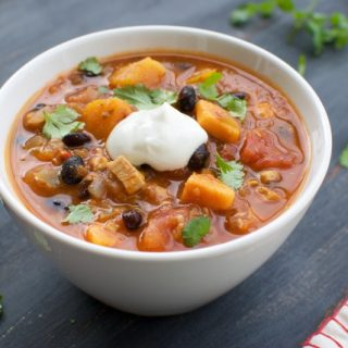 Black Bean and Chicken Chili with Butternut Squash