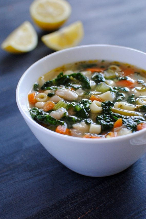 healing lemon chicken noodle soup