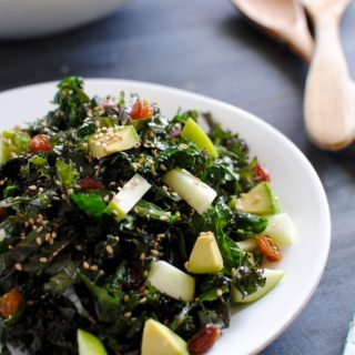 Crunchy Kale Salad with Avocado and Sesame