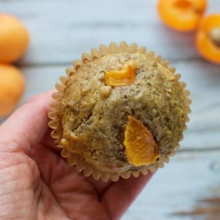 Apricot Flaxseed Muffins
