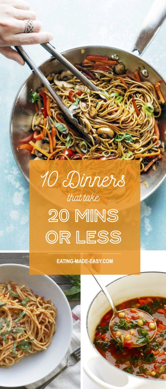 20 minute dinners